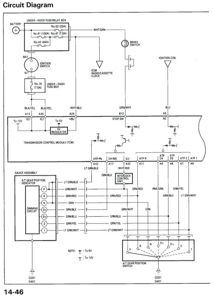 is the automatic park release located on the ecu tcm or neither rh team integra net ECU Pinout 2001 BMW 325I Wiring Diagram