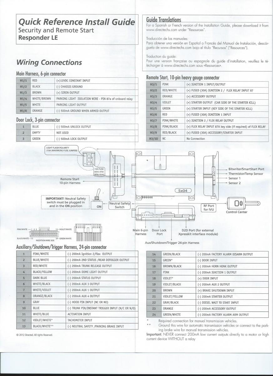 Viper 5204 Wiring Diagram All Kind Of Diagrams 5704v For Alarm Need Help Team Integra Forums Rh Net Car System Remote Start