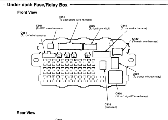 File: 2000 Acura Integra Fuse Box