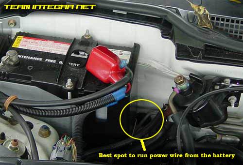 Power Wire Spot on Acura Integra Radio Installation