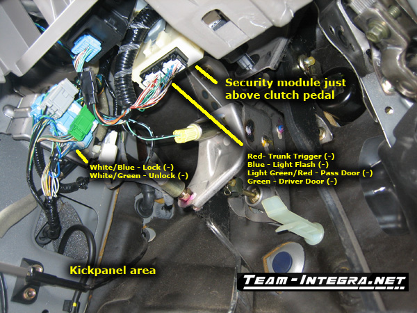 RSX Alarm Wiring Information Team Integra Forums Team