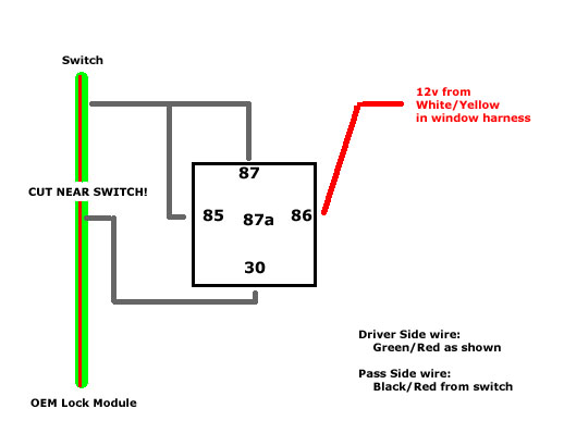 Bypass Relay Wiring Diagram : G unlock switch bypass team integra forums