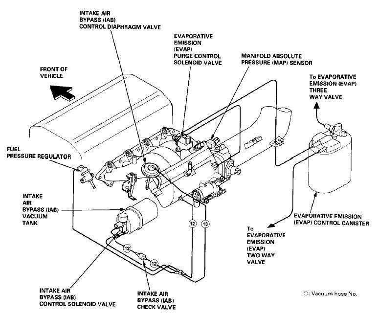 Diagram Vacuum Lines On Vacuum Line Diagrams On 1990 Acura Integra
