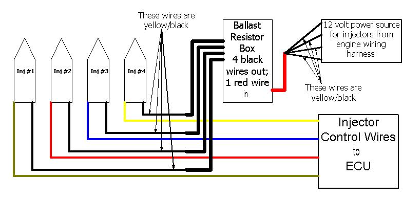 dsm 450 peak & hold w/o resistor box? - team integra ... honda obd1 fuel injector wiring diagram